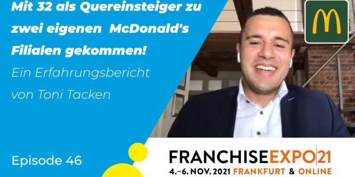 """046 –  """"Wie ich mit 32 als Quereinsteiger zwei McDonald's Restaurants übernahm"""""""